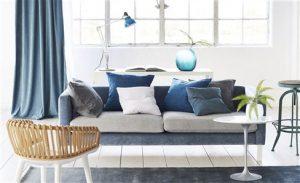 Curtain and Sofa